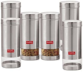 Hazel 950 ml Silver Stainless steel Container Set - Set of 6