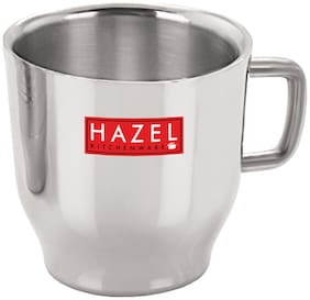 HAZEL Stainless Steel Green Tea Coffee Small Classic Cup, 1 pc, 75 ml