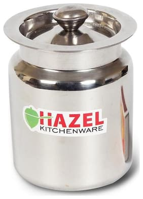 Hazel Stainless Steel Oil / Ghee Storage Container, 400 ml, Silver