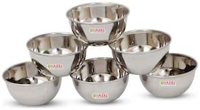 HAZEL Steel Vatti / Bowl - 6 Pcs Set - Large