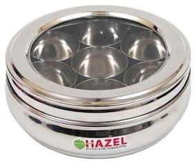 Hazel Steel Masala Dabba, Stainless Steel, Silver