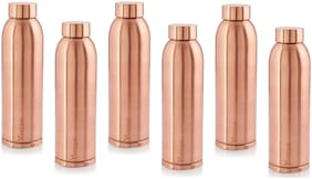 Hazel Copper Copper Water Bottle ( 900 ml , Set of 6 )