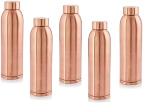 Hazel Copper Copper Water Bottle ( 900 ml , Set of 5 )