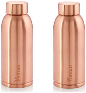 Hazel Copper Copper Water Bottle ( 600 ml , Set of 2 )