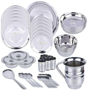 Hazzlewood stainless steel pack of 51 pcs dinner set