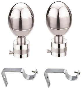 Hd Interio Designer Aluminium Curtian Knobs Pack Of 2 With Free Steel Supports