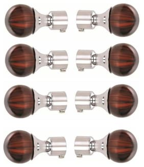 Hd Interio Designer Aluminium Curtian Knobs Pack Of 8 With Free Steel Supports