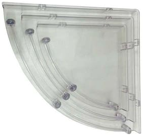 Hdinterio prime series Acrylic corner shelves-set of 3