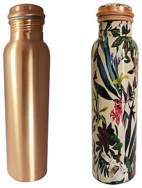 HEALTH MECHANIC Copper Multi Water Bottle ( 1500 ml , Set of 2 )