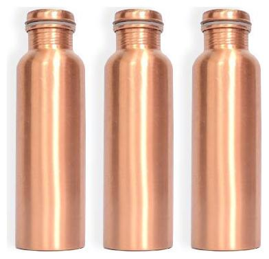 HEALTHCHOICE Copper Brown Water Bottle ( 900 ml , Set of 3...