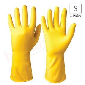 Healthgenie Flocklined Household Multi-Purpose Glove;Small (3 Pairs)