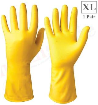 Healthgenie Flocklined Household Multi-Purpose Glove;Extra Large (1 Pair)
