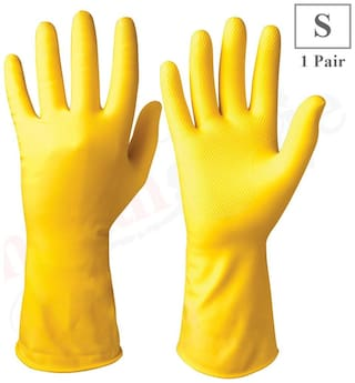 Healthgenie Flocklined Household Multi-Purpose Glove;Small (1 Pair)