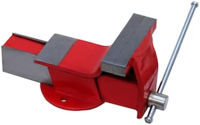 Heavy professional (6inches) steel iron bench vice fixed base (152mm)