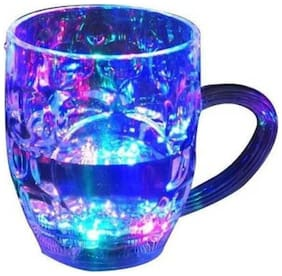 High Class RAINBOW COLOR CUP LED Flashing 7 Colour Changing Liquid Activated Mug FOR Party Decoration lamps lights(Pack Of 3).