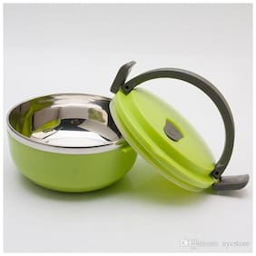 Beezy 2 Containers Stainless steel Lunch Box - Green