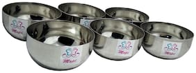 high grade stainless steel serving bowl pack of 6