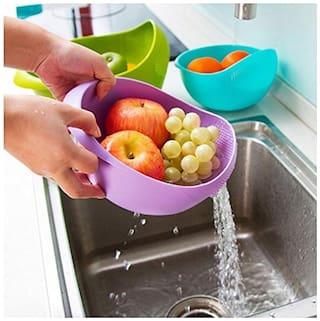 High Quality  Fruit Rice Sieve Wash Drainer Basket Kitchen Plastic Disposable Bowl Plastic Bowl