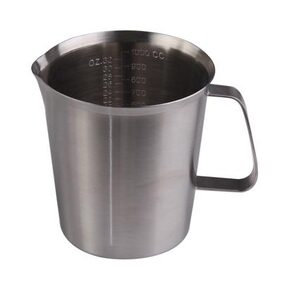 High Quality Stainless Steel Milk Measuring Cup Coffee Frothing Jug 1000ML