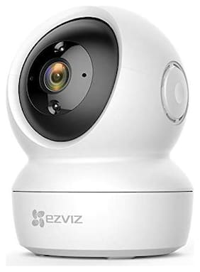 Hikvision By EZVIZ by C6N Wireless Full HD 360° View Pan Tilt Indoor Home Camera with Night Vision| Motion Alert on Mobile| 256 GB Slot| Two Way Audio| Sleep Mode (White)