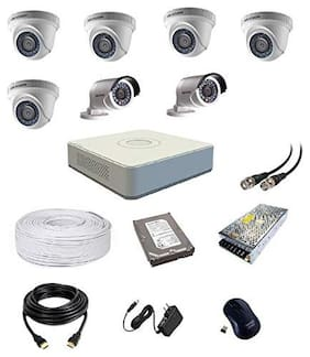 Hikvision ULa HD 2MP Cameras Combo KIT 8CH HD DVR;5 Dome;2 Bullet Camera;1 TB Hard Disk;Wire ROLL;Power Supply and All Required Connectors