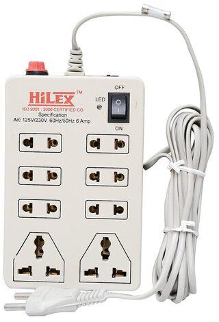 Hilex 8 Socket Extension Board 1pc 3.5 mtr ( White )