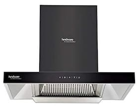 Hindware Wall Mounted Auto Clean 75 cm 1200 m3/h Black Chimney ( Alicia 75 )