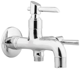 Hindware F110003 Immacula Bib Tap 2 In 1 With Wall Flange