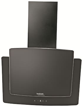 Hindware 37.8 cm 1000 m3/h Touch control Stainless steel Chimney - 190 watts , Black , KYRA 60