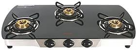 Hindware 3 Burner Automatic Regular Black Gas Stove ,