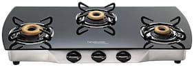 Hindware 3 Burner Automatic Regular Black Gas Stove