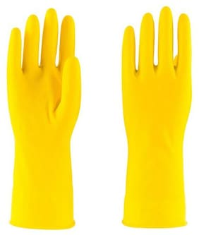 HM Evotek Cleaning Rubber Gloves Reusable Washing Cleaning Kitchen Garden 1 Pair