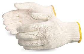 HM Evotek Cotton Knitted Hand Kitchen Safety Gloves Plain - 1 Pair