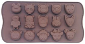Hojo Silicone Chocolate Mould Ice Mould Chocolate Decorating Mould (Various Face Shape)