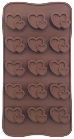 Hojo Silicone Chocolate Mould Ice Mould Chocolate Decorating Mould (Heart Shape)