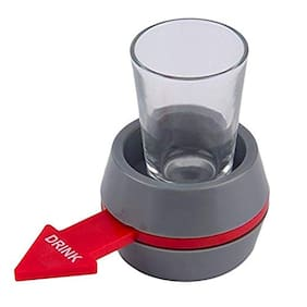 Hojo  Spin The Shot Party Drinking Game Pour a Shot Roulette Spinner Glass Gift