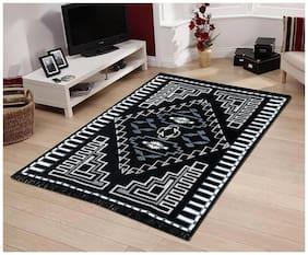 HOMADORN TM Ethnic Velvet Touch Chenille Thin Carpet/Mat (5 feet x 7 feet)