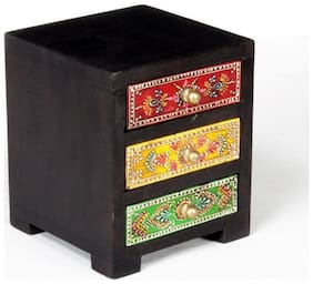 Home and Bazaar Traditional Look With This Antique 3 Drawer Chest.