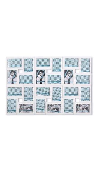 Buy @home by Nilkamal white plastic collage frame set of 24 Online ...