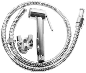 Home Decor ABS Silver Single Flow Hand Shower And Hook Shower Head