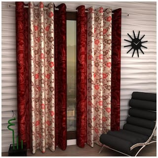 Home Sizzler Set of 2 Curtains