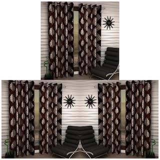 Home Sizzler Exclusive Set Of 6 Curtains