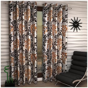 Home Sizzler Frill Fancy Curtains (Set Of 2)