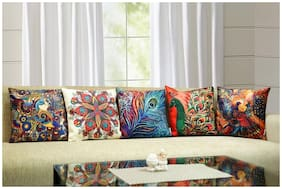 Home Solution Digital print Cushion Cover 5 pcs set