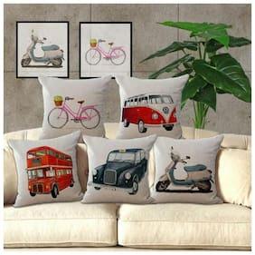 Home Solutions 16x16 Heavy jute cushions Set of 5 pcs