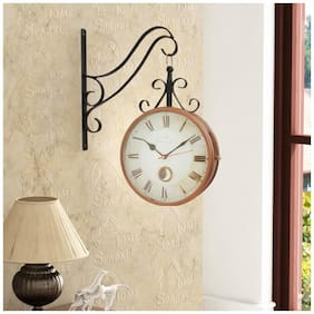 Home Sparkle Metal Analog Wall clock ( Set of 1 )