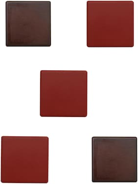 Home Sparkle Set Of 5 Cubes Shelf (Red And Brown)