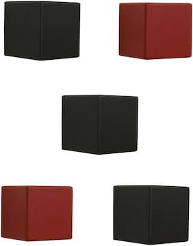 Home Sparkle Set of 5 Cubes Shelf (Black And Red)