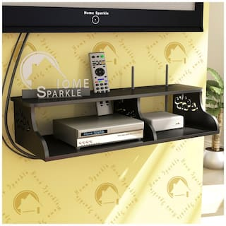 Home Sparkle Carved Set Top Box Holder