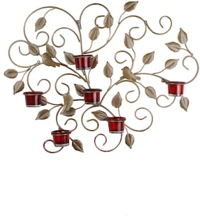 Home Sparkle Iron Golden Candle holder